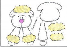 molde de ovelhinha de páscoa
