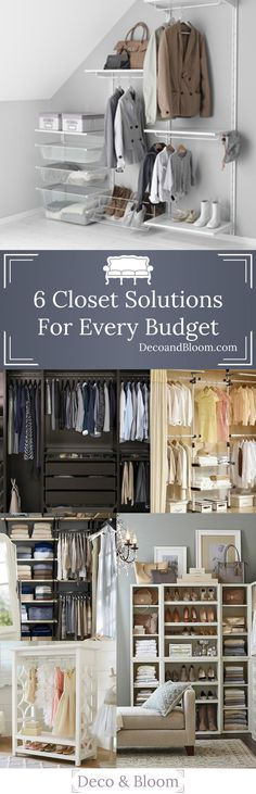 6 Closet Solutions For Every Budget - From the Home Decor Discovery Community at www.DecoandBloom.com