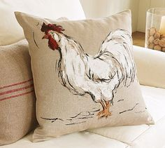 Loose painted rooster pillow                                                                                                                                                     More