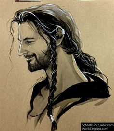 Young Thorin.  This artist is a badass at drawing hair.