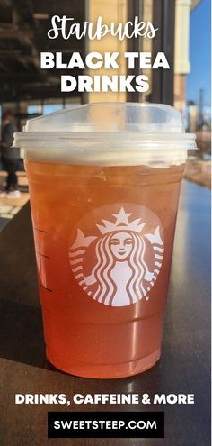 Take a look at all Starbucks black tea drinks on the menu and learn about how much caffeine each drink has and more. #starbucks #black #tea #drinks Starbucks Flavors, Starbucks Tea, How To Order Starbucks, Starbucks Recipes, Tea Drinks, Tea Latte, Best Black, Iced Tea, Summer Drinks