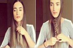 This is genius! Long hair, easy braid video tutorial!