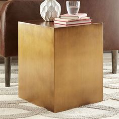 NEW! In a modern metallic finish, the Metal Cube Side Table is a handy surface next to a bed or sofa and doubles as an extra seat if needed.