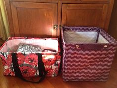 Square Storage Bin ... next to our Deluxe Utility Tote. This product is huge and will store so many toys, clothes, etc
