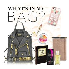 """My Universe 💥"" by look-awesomeness ❤ liked on Polyvore featuring Moschino, Kate Spade, Sabatini, Casetify, Parker, Christian Louboutin, backpack and inmybackpack"