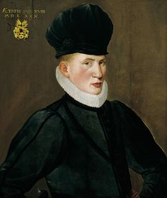Nicolas Neufchatel (1527-1590) -   Portrait of 18 year old, Jan van Eversdyck in 1580
