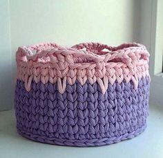 Crochet cestas.