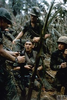 Men of the Airborne during a sweep of an area around the Fire Support Base that protected the Montagnard village of Mai Loc/October ~ Vietnam War Vietnam History, Vietnam War Photos, North Vietnam, Vietnam Veterans, American War, American Soldiers, American History, American Veterans, Indochine