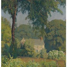 """""""Summer Silence,"""" Daniel Garber, 1929, oil on canvas, 30 x 30"""", private collection."""