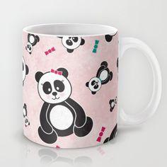 Panda Freefall in Pink Mug