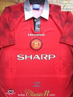 Relive Manchester United's 1996/1997 season with this vintage Umbro home football shirt.