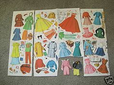 paper dolls- and when you couldn't afford to by them, there were always catalogs to do cut outs.