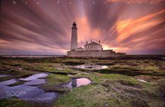 The world just keeps on turning by StuartPatterson1  Lighthouse St Marys bay coast england lighthouse long exposure patterson seascape sky stu sunset whi