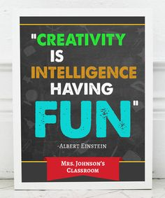 Look at this #zulilyfind! 'Creative Intelligent Fun' Personalized Print #zulilyfinds