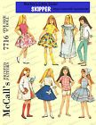 1960s Doll clothes sewing pattern for blythe skipper and skooter 9 inch