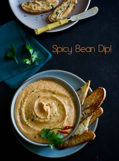 spicy bean dip im making this today!! i love chips so a healthy dip for it is always welcome :)
