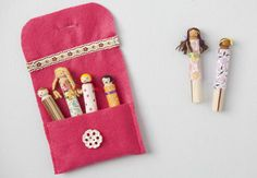 DIY Clothespin Dolls.... I remember making these with my Nan when I was little :)