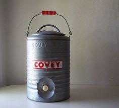 For above sink: vintage galvanized steel water cooler by allthebestvintage on Etsy