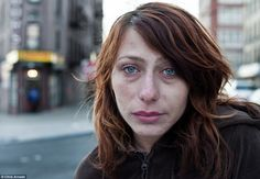 Haunting: This is Vanessa, 35, a homeless prostitute who has worked the streets of Hunts Point in the Bronx, New York. She is one of the few success stories from the neighborhood. She got out and is currently off heroin and trying to get clean