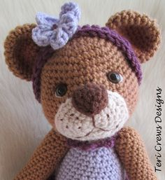 Animal & Critter Crochet Patterns by Teri Crews - Darling Bear