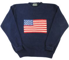 90's Polo Country Stars and Stripes Pattern Cotton knit notation (XL)
