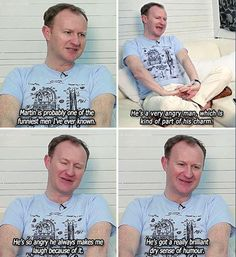 Mark Gatiss on Martin Freeman