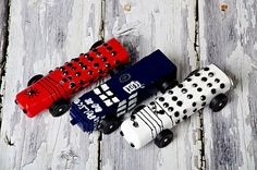 Doctor Who Pinewood Derby Cars. Joey & I were already talking about this for next year!