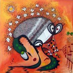 """Saatchi Art Artist Concha Flores Vay; Painting, """"Y LLEGARON CON LA PRIMAVERA"""" #art"""