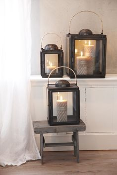 Riverdale lantern Lights Fantastic, Candle In The Wind, Candle Magic, Pretty Lights, Candle Lanterns, Mirror With Lights, Farmhouse Chic, Cozy House, Decoration