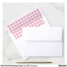 Shop Pink Plaid Envelope Liner created by BDP_Designs. Pink Envelopes, Wedding Envelopes, Create Your Own, Create Yourself, Pumpkin First Birthday, Pink Birthday, Envelope Liners, Pink Girl, First Birthdays