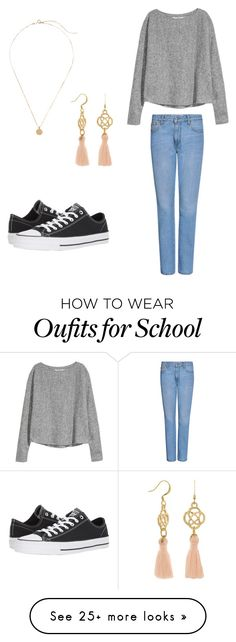 """Casual school"" by kayden312237 on Polyvore featuring MSGM and Converse"