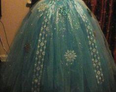 Congelados cumpleaños traje princesa Elsa de por MiaMonroeBoutique