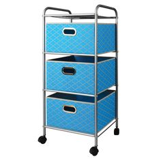 Mini 3 Drawer Cart in Teal-22002 - The Home Depot