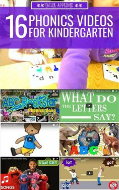 16 Phonics Videos for Kindergarten Yet another one from KindergartenWorks! These are sort of silly videos but the sillier the better, right? I keep hearing about the importance of phonics in early education and these videos really help with that! Phonics Videos, Phonics Song, Teaching Phonics, Phonics Activities, Jolly Phonics, Phonics Rules, Time Activities, Kindergarten Language Arts, Kindergarten Learning