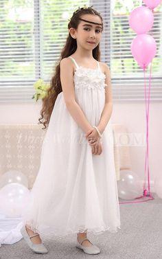 48fbe1217 $57.90-Sleeveless Square-neck Flower Girl Dress With Spaghetti Straps.  http:/