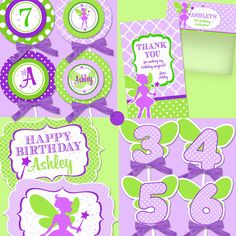 FAIRY Party Printable Set - Birthday - Fairy Printables Collection - by Amanda's Parties To Go. $29.00, via Etsy.
