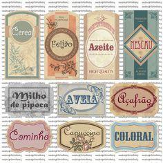 2b2182a676e27 Fiz mais duas cartelas de etiquetas vintage para seus potes!!! Estas eu fiz  pra mimar uma amiga fofaaaaaaaaaa e super arteira .