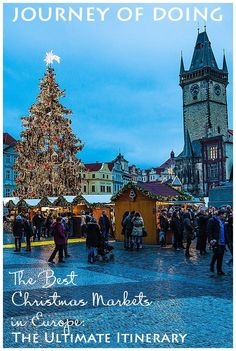 Best Christmas Markets in Europe – The Ultimate Itinerary journey of doing – Best Christmas Markets in Europe; the ultimate itinerary to European Christmas Markets Prague Christmas Market, Best Christmas Markets, Christmas Markets Europe, Christmas Travel, Holiday Travel, Christmas Fun, Christmas Trips, Europe Holidays, Xmas