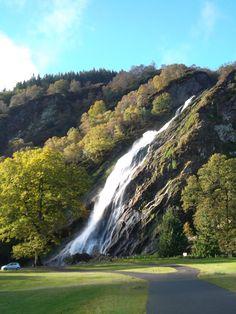 Powerscourt Waterfall, the highest waterfall in Ireland. www.powerscourt.ie #waterfall #powerscourt