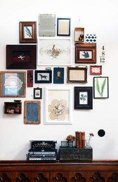 framed art home gallery wall / sfgirlbybay