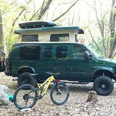found a great campsite for their Sportsmobile with Aluminess gear . 4x4 Camper Van, 4x4 Van, Camper Trailers, Ambulance, Lifted Van, Van Car, Living On The Road, Van Living, Van Camping