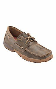 Tried some of these on yesterday! They are the most comfortable shoes I've ever worn!  Twisted X® Ladies Bomber Brown Boat Shoe