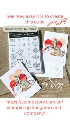 Baby Cards, Birthday Greetings, Stampin Up Cards, My Images, Kangaroo, Diy Gifts, Thankful, Create, Happy