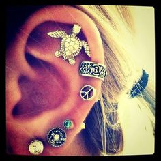 helix piercing | Tumblr. Maybe not so many though...