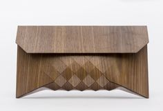 Great Americano // XL wood clutch by TeslerMendelovitch