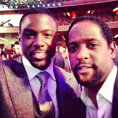 NBC worlds colliding! Lance Gross from poses with Blair Underwood! Blair Underwood, Lance Gross, Inspirational Gifts, Eye Candy, Crushes, Celebs, Poses, Actors, Sexy