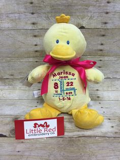Cubbies™ Duck Stuffie with Custom Embroidery