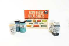 Home Decor Cheat Sheets Giveaway Bundle