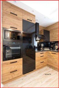 Kitchen Room Design, Modern Kitchen Design, Home Decor Kitchen, Interior Design Kitchen, New Kitchen, Kitchen Ideas, Kitchen Wood, Awesome Kitchen, Kitchen Black