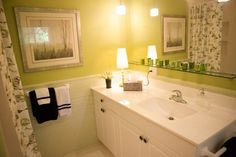 budget friendly guest bathroom renovation by grey elm interiors in durham, nc